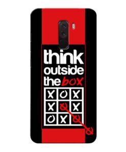 Think Outside Xiaomi Poco F1 Mobile Cover
