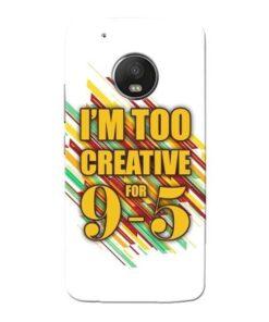 Too Creative Moto G5 Plus Mobile Cover