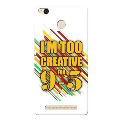 Too Creative Xiaomi Redmi 3s Prime Mobile Cover