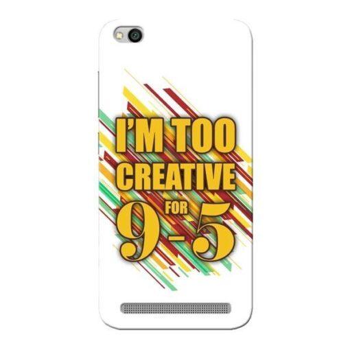 Too Creative Xiaomi Redmi 5A Mobile Cover