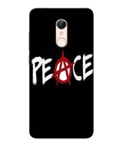 White Peace Xiaomi Redmi 5 Mobile Cover