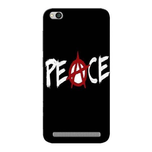White Peace Xiaomi Redmi 5A Mobile Cover