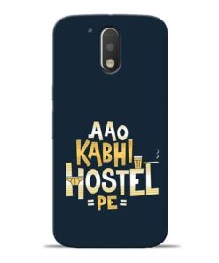 Aao Kabhi Hostel Pe Moto G4 Mobile Cover
