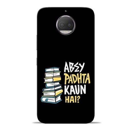 Abey Padhta Koun Moto G5s Plus Mobile Cover