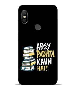 Abey Padhta Koun Redmi Note 6 Pro Mobile Cover