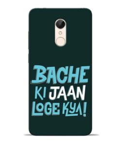 Bache Ki Jaan Louge Redmi 5 Mobile Cover