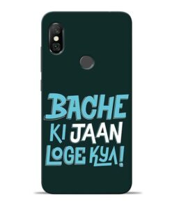 Bache Ki Jaan Louge Redmi Note 6 Pro Mobile Cover
