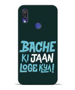 Bache Ki Jaan Louge Redmi Note 7 Pro Mobile Cover