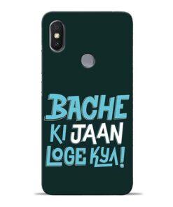 Bache Ki Jaan Louge Redmi S2 Mobile Cover