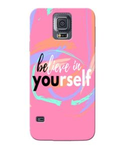 Believe In Samsung Galaxy S5 Mobile Cover