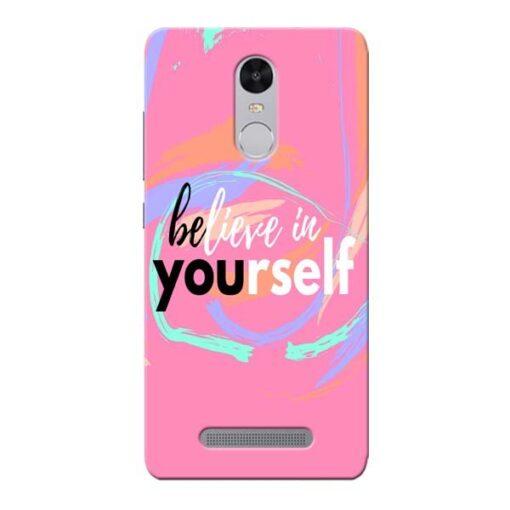 Believe In Xiaomi Redmi Note 3 Mobile Cover