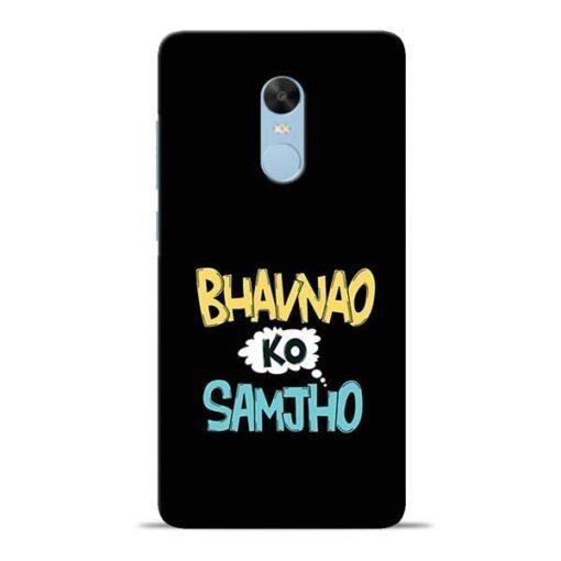 Bhavnao Ko Samjho Redmi Note 4 Mobile Cover