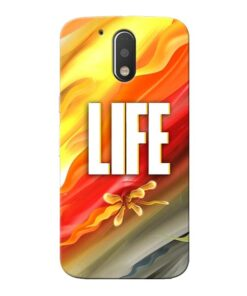 Colorful Life Moto G4 Plus Mobile Cover