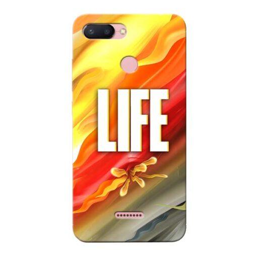 Colorful Life Xiaomi Redmi 6 Mobile Cover
