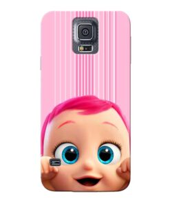 Cute Baby Samsung Galaxy S5 Mobile Cover