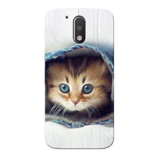 Cute Cat Moto G4 Plus Mobile Cover