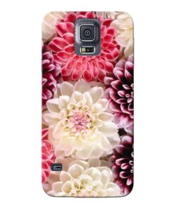 Digital Floral Samsung Galaxy S5 Mobile Cover
