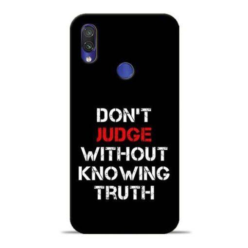 Don'T Judge Redmi Note 7 Pro Mobile Cover