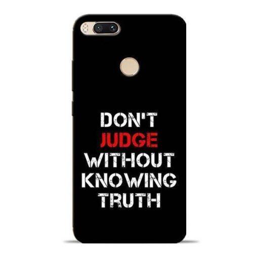 DonT Judge Mi A1 Mobile Cover