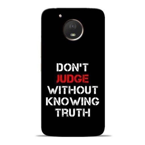 DonT Judge Moto E4 Plus Mobile Cover