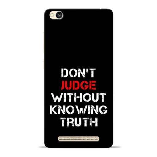 DonT Judge Redmi 3s Mobile Cover
