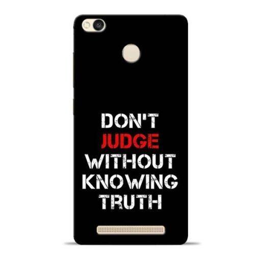 DonT Judge Redmi 3s Prime Mobile Cover