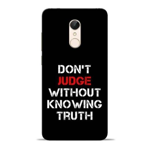 DonT Judge Redmi 5 Mobile Cover