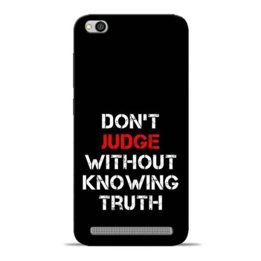 DonT Judge Redmi 5A Mobile Cover