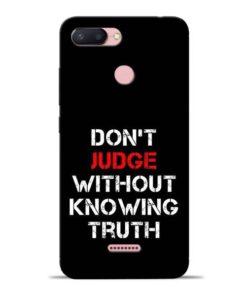 DonT Judge Redmi 6 Mobile Cover