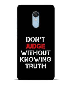 DonT Judge Redmi Note 4 Mobile Cover