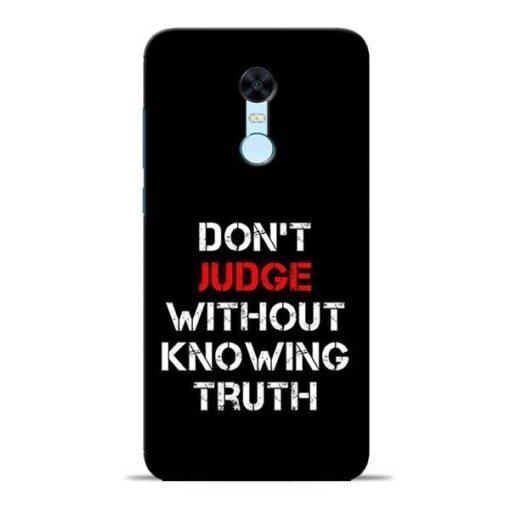 DonT Judge Redmi Note 5 Mobile Cover