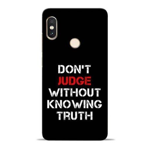 DonT Judge Redmi Note 5 Pro Mobile Cover