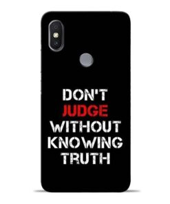 DonT Judge Redmi S2 Mobile Cover