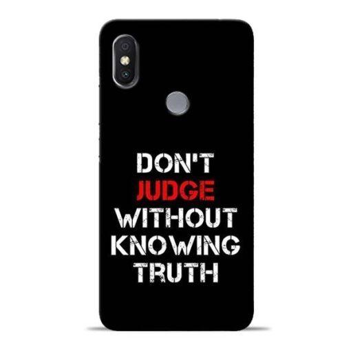 DonT Judge Redmi Y2 Mobile Cover