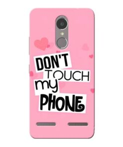Dont Touch Lenovo K6 Power Mobile Cover