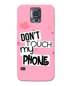Dont Touch Samsung Galaxy S5 Mobile Cover