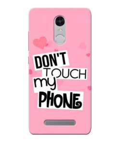 Dont Touch Xiaomi Redmi Note 3 Mobile Cover