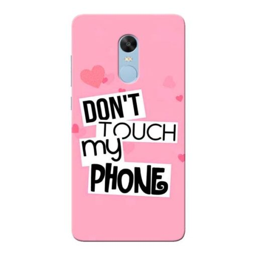 Dont Touch Xiaomi Redmi Note 4 Mobile Cover