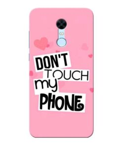 Dont Touch Xiaomi Redmi Note 5 Mobile Cover