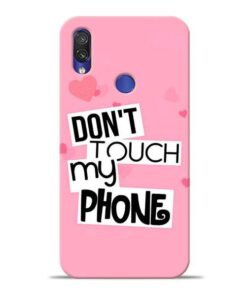 Dont Touch Xiaomi Redmi Note 7 Pro Mobile Cover