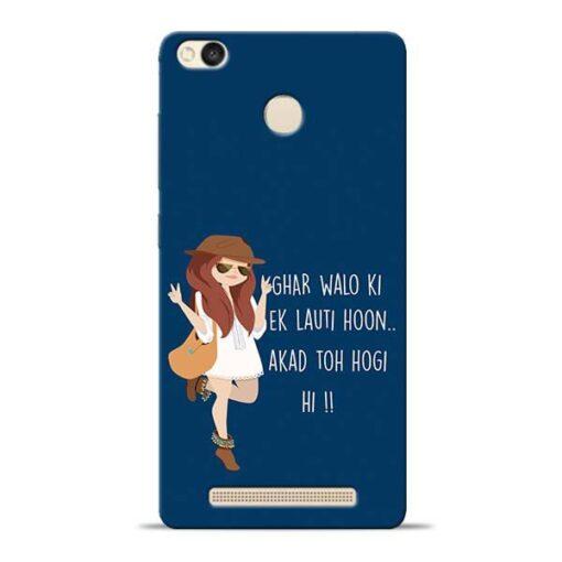Ek Lauti Hoon Redmi 3s Prime Mobile Cover