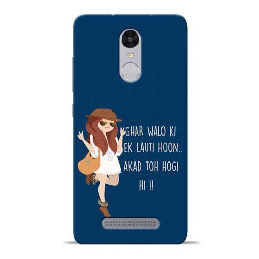Ek Lauti Hoon Redmi Note 3 Mobile Cover