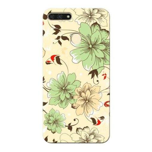 Floral Design Honor 7A Mobile Cover