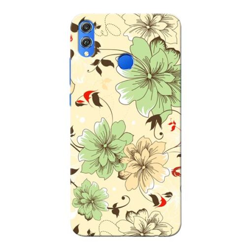 Floral Design Honor 8X Mobile Cover