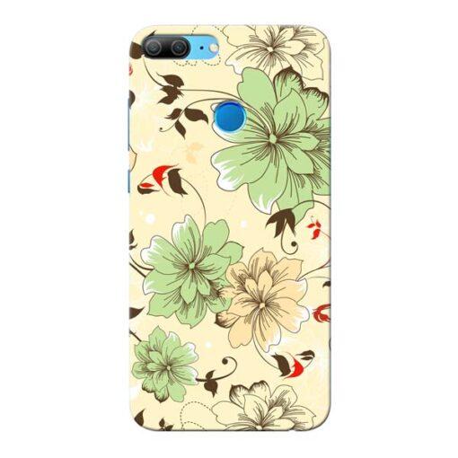 Floral Design Honor 9 Lite Mobile Cover