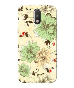 Floral Design Moto G4 Mobile Cover