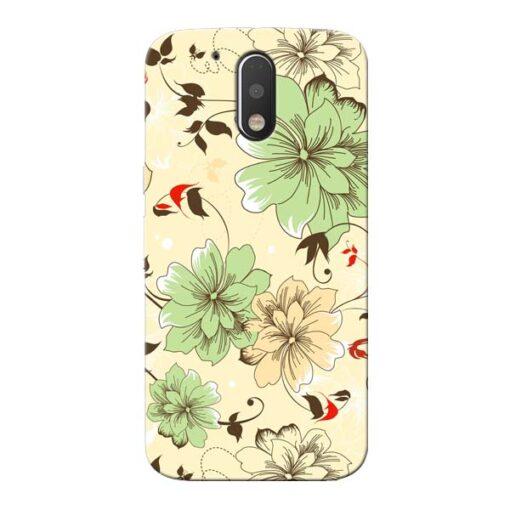Floral Design Moto G4 Plus Mobile Cover