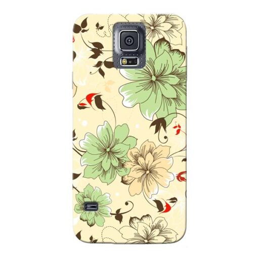 Floral Design Samsung Galaxy S5 Mobile Cover