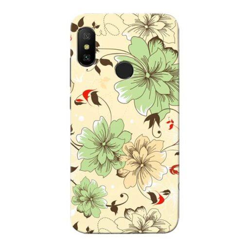 Floral Design Xiaomi Redmi 6 Pro Mobile Cover