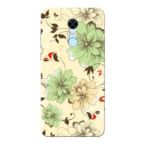 Floral Design Xiaomi Redmi Note 5 Mobile Cover